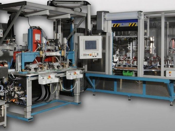 Induction Brazing System - The Induction Brazing System can be used for line production. Additional units, e.g. interference fit assembly.